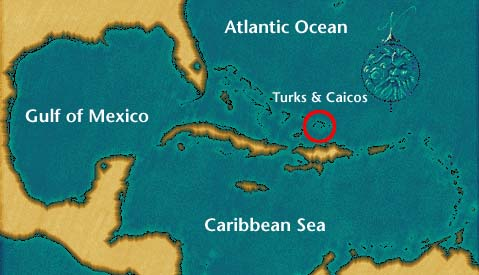Where are the Turks and Caicos Islands?